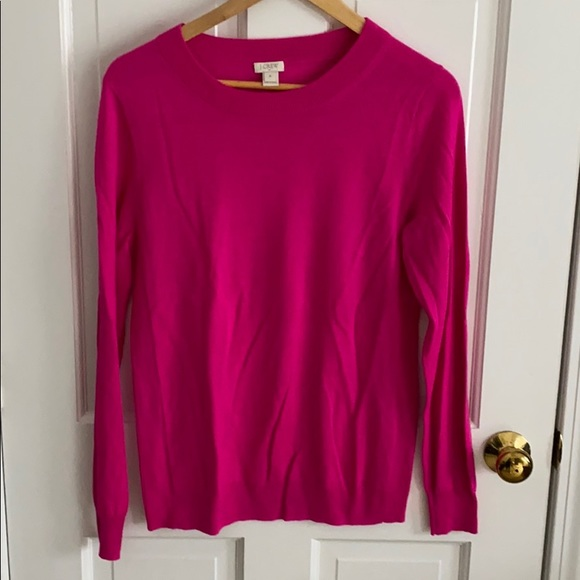 J. Crew Sweaters - J Crew Fuchsia light weight sweater